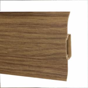 Plinth PVC 508 FLEX SMART Oak dark Skirting (pvc, fiberboard, wood)