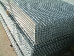 Galvanized welded platform 6100x1000/30x2/34x38 Boiled in a metal lattice