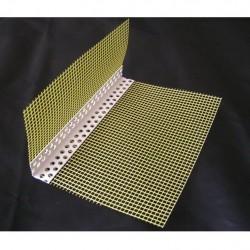 Plastikinis (PVC) kampas su tinkleliu (100/150) 2,5m Profiliai (GKP, glaistymo, tinkavimo)