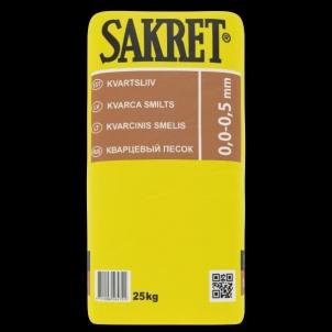 Smėlis kvarcinis QS (0,1-0,5mm) Sausas 25kg Smėlis