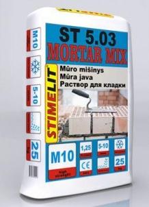 Mūro-tinko mišinys, Stimelit ST 5.03 (25kg) Ražojumi mūra darbiem javas