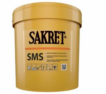 Silikatinis - silikoninis tinkas Sakret SMS/B 2mm samanėlė 25kg Dekoratyviniai tinkai