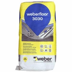 Grindų mišinys weber.floor 3030 greitai stingstantis plonasluoksnis išlyginamasis su plaušu, 0-10 mm 20 kg Išlyginamieji mišiniai