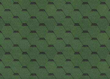 Bitumen roof shingles,flexible SONATA SAMBA, green Bitumen roof shingles (tiles)