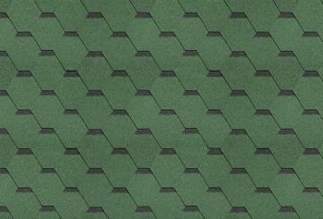 Bituminės čerpės SONATA VERSALLES, žalia Bitumena flīzes