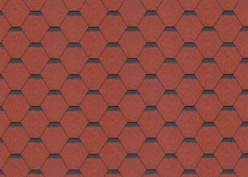 Bitumen roof shingles SONATA KADRILIS, red Bitumen roof shingles (tiles)