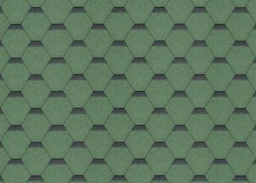 Bitumen roof shingles SONATA KADRILIS, green Bitumen roof shingles (tiles)