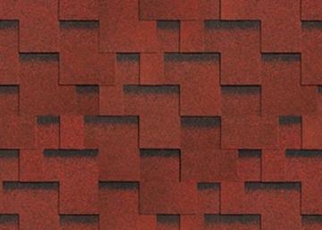 Bituminės lanksčiosios čerpės AKORDAS DŽAIVAS, raudona Bitumena flīzes