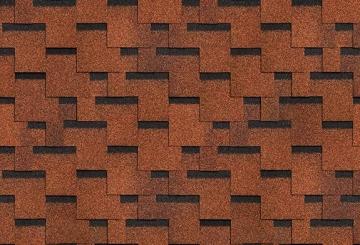 Bituminės lanksčiosios čerpės AKORDAS DŽAIVAS, ruda kontrastas Bituminės čerpelės