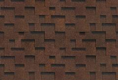 Bitumen roof shingles,flexible AKORDAS DŽAIVAS, brown Bitumen roof shingles (tiles)