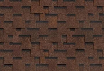 Bituminės lanksčiosios čerpės AKORDAS DŽAIVAS, ruda Bitumena flīzes