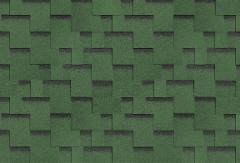 Bitumen roof shingles,flexible AKORDAS DŽAIVAS, green Bitumen roof shingles (tiles)