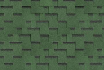 Bituminės lanksčiosios čerpės AKORDAS DŽAIVAS, žalia Bitumena flīzes