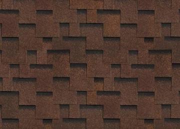 Bituminės čerpės AKORDAS PRAGA, ruda Bituminės čerpelės