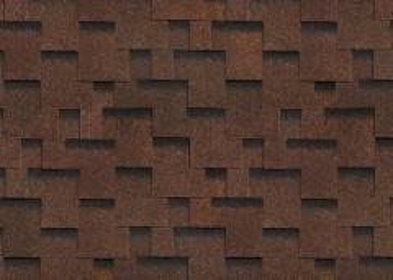 Bitumen roof shingles AKORDAS PRAGA, brown Bitumen roof shingles (tiles)