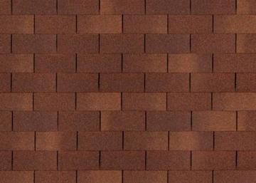 Bitumen roof shingles TRIO SUPER, brown Bitumen roof shingles (tiles)