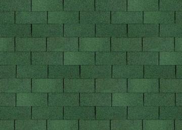 Bitumen roof shingles TRIO SUPER, green Bitumen roof shingles (tiles)