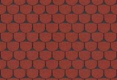 Bitumen roof shingles TANGO SUPER, red with shadow Bitumen roof shingles (tiles)