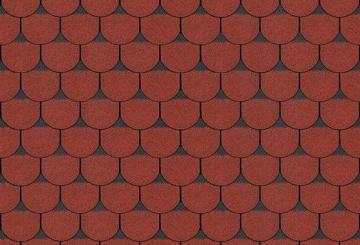 Bituminės čerpės TANGO SUPER, raudona su šešėliu Битумная черепица