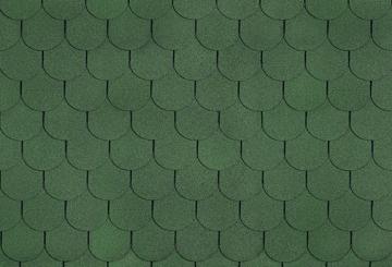 Bituminės čerpės TANGO SUPER, žalia Битумная черепица