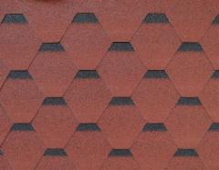 Bitumen roof shingles ROOFSHIELD, red with shadow Bitumen roof shingles (tiles)