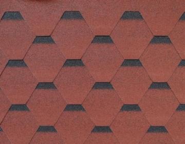 Bituminės čerpės ROOFSHIELD, raudonos su šešėliu Bitumena flīzes
