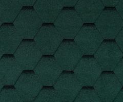Bitumen roof shingles ROOFSHIELD, green with shadow