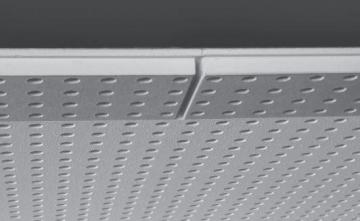 Akustinė plokštė Knauf Cleaneo FF 10/23 R (juoda) 1998 x 1188 x 12,5 mm (2,373624 kv. m.) Gipso kartono plokštės (GKP)