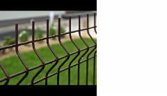 Tvoros segmentas karštai cinkuotas 200x50x4x2500x1230mm, dažytas rudos sp. Tvorų segmentai