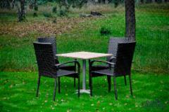 Lauko baldų komplektas QUATTRO juodas 003 Lauko baldų komplektai