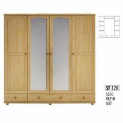Spinta SF120 (200x210x55 cm) Wooden bedroom closets