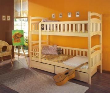 Vaikiška Dviaukštė Lova DOMINIK Vaikiškos lovos