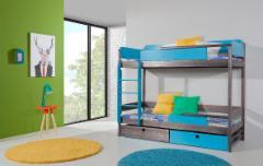 Vaikiška Dviaukštė Lova Natu II Vaikiškos lovos