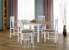 Valgomojo stalas Gracjan išskleidžiamas (ąžuolas sonoma/balta)