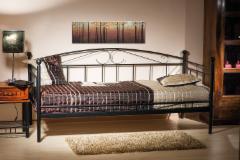 Miegamojo lova Ankara 90 juoda Miegamojo lovos