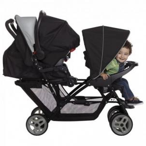 Vežimėlis dviems vaikams GRACO STADIUM DUO Biscuit Par bērniem un to aksesuāru ratiņi