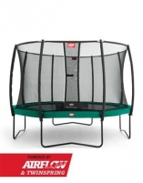 270cm Batutas su apsauginiu tinklu BERG Champion Deluxe Green (iki 350kg) Batutai