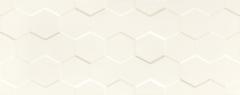 29.8*74.8 S- ELEMENTARY WHITE HEX STR, plytelė