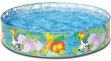 Pripučiamas baseinas 4 Happy Dino Animals, 122 x 25 cm