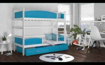 Bērnu trīsvietīga gulta Twist 3 Bērnu gultas