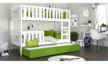 Vaikiška Trivietė Lova Kubus 3 190x80 Vaikiškos lovos