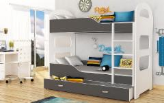 Vaikiška Double bed Bed Dominik AJK meble Children's beds