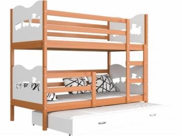 Vaikiška Trivietė Lova Max 3 190x80 Vaikiškos lovos