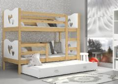 Vaikiška Double bed Trivietė Bed Max 3 Children's beds