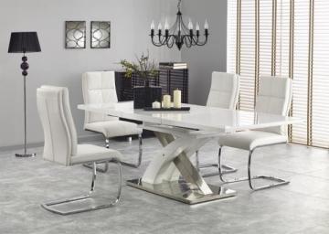 Valgomojo stalas Sandor 2 išskleidžiamas baltas