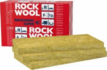 Stone wool insulation ROCKSONIC SUPER 100x565x1000