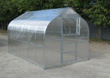 Šiltnamio Standart KLASIKA prailginimas 2 metrų (1 stoglangis) su 4 mm.polikarbonato danga be priekio ir galo