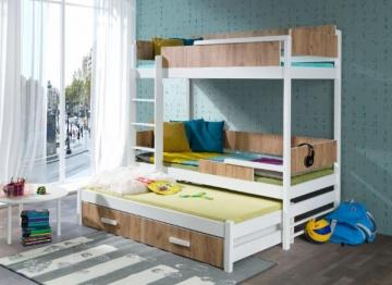 Vaikiška trivietė lova QUATRO Vaikiškos lovos