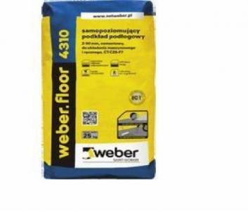 Savaime išsilyginantys grindų mišinys su plaušu Weber.Floor 4310 50mm 25kg Išlyginamieji mišiniai