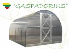 Greenhouse Gaspadorius( 34.44 m2) 12000x2870x2250 su 6 mm . PK Greenhouses